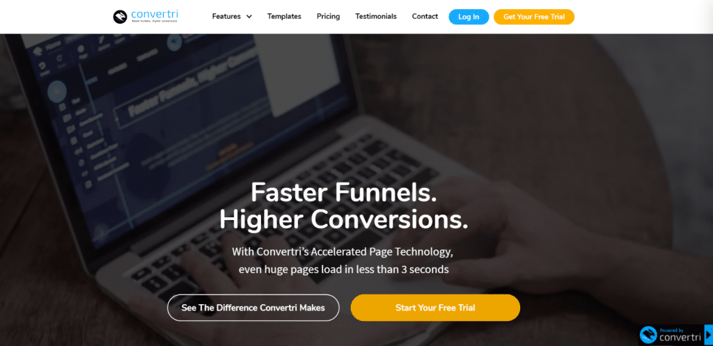 Convertri home page
