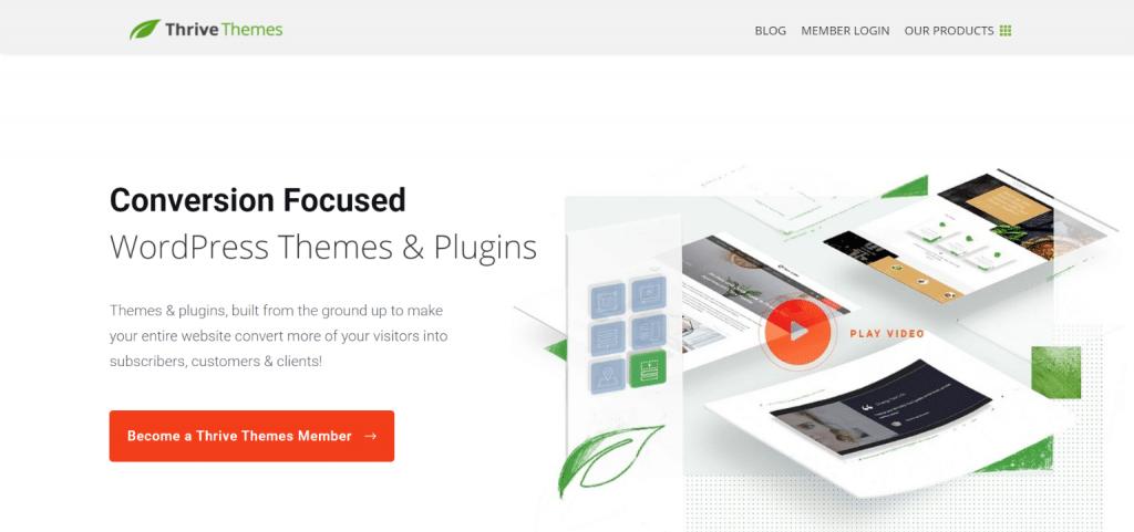 Thrive Themes homepage