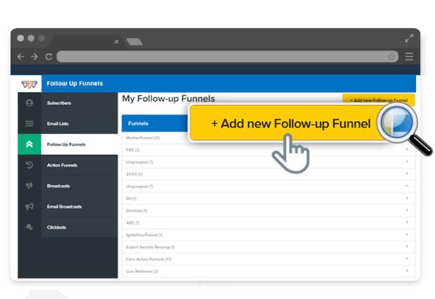 Clickfunnels add new follow-up funnel